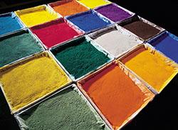 Powder base for paints